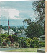 Skyline For Magnolia 1 Wood Print