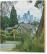 Skyline From Magnolia 2 Wood Print