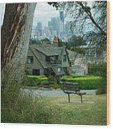 Skyline From Magnolia 4 Wood Print