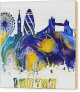Skyline London England  Wood Print