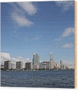 Skyline Miami Wood Print