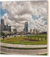 Skyline Of Charlotte Towers Wood Print