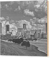 Skyline Of Fort Worth Wood Print
