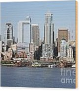 Skyline Of Seattle Wood Print