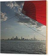 Skyline Sail Wood Print