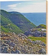 Skyline Trail And Road Through Cape Breton Highlands Np-ns Wood Print