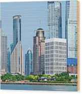 Skylines At The Waterfront, Oriental Wood Print