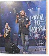 Skynyrd-group-7309 Wood Print