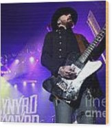 Skynyrd-johnnycult-7915 Wood Print