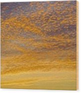 Skyscape - Rocky Gold Wood Print