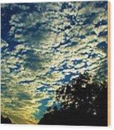 Skyward Wood Print by Ella Char