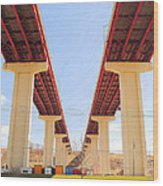 Skyway Highway Wood Print