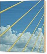 Skyway To The Clouds Wood Print