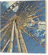 Skywheel At Niagara View Wood Print