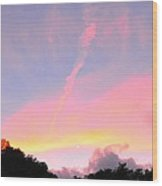Skywriting Wood Print