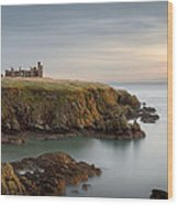 Slains Castle Sunrise Wood Print