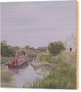 Slapton Lock Wood Print