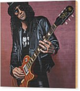 Slash Wood Print by Paul Meijering