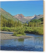 Slate River View Wood Print