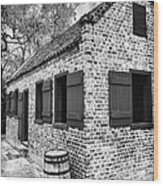 Slave House Wood Print by John Rizzuto