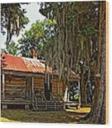 Slave Quarters Wood Print by Steve Harrington