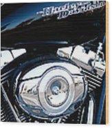Sleek Black Harley Wood Print by David Patterson