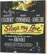 Sleep, My Love, Us Poster, Bottom Wood Print