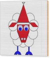 Sleep Sheep wishes you a Merry Christmas Wood Print