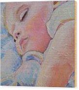 Sleeping Baby Wood Print