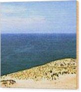 Sleeping Bear Dunes Panorama Wood Print
