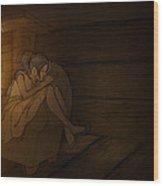 Sleeping By The Fireside Wood Print