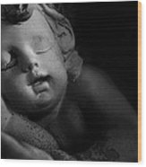 Sleeping Cherub #1bw Wood Print