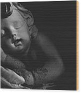Sleeping Cherub #2bw Wood Print