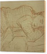 Sleeping Figure Wood Print