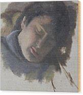 Sleeping Gabi Wood Print