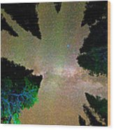 Sleeping Under The  Milky Way Stars Wood Print