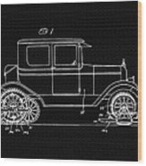 Sleigh Attachment For Motor Vehicles Support Patent Drawing From 1926 2 Wood Print