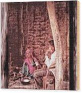 Slice Of Life Mud Oven Chulha Tandoor Indian Village Rajasthani 1c Wood Print