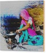 Slice Of Life Mud Oven Chulha Tandoor Indian Village Rajasthani 2 Wood Print