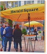 Slice Of Life Nyc-herald Square Wood Print