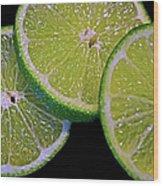 Sliced Limes Wood Print
