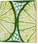 Slices Of Lemon. Wood Print by Slavica Koceva