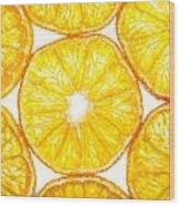 Slices Orange. Wood Print by Slavica Koceva