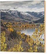 Slide Lake Wood Print