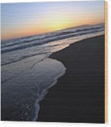 Sliding Down - Sunset Beach California Wood Print