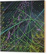 Slinky Celebration Wood Print by Camille Lopez