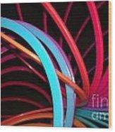 Slinky Craze 3 Wood Print