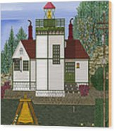 Slip Point Lighthouse Vintage Wood Print