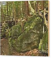 Slippery Rock Creek Bridge Wood Print