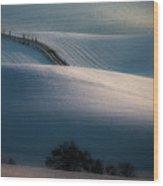 Sloping Road Wood Print